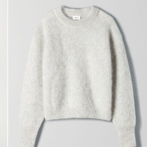 Wilfred mohair fuzzy serment sweater